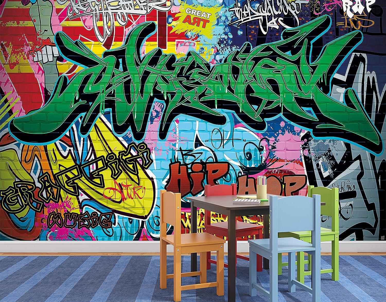 Great art photo wallpaper graffiti street style decoration 132 3x93 7in 336x238cm wallpaper 8 pieces includes paste amazon com