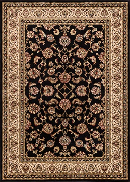 Noble Sarouk Black Persian Floral Oriental Formal Traditional Area Rug 7x10 67quot