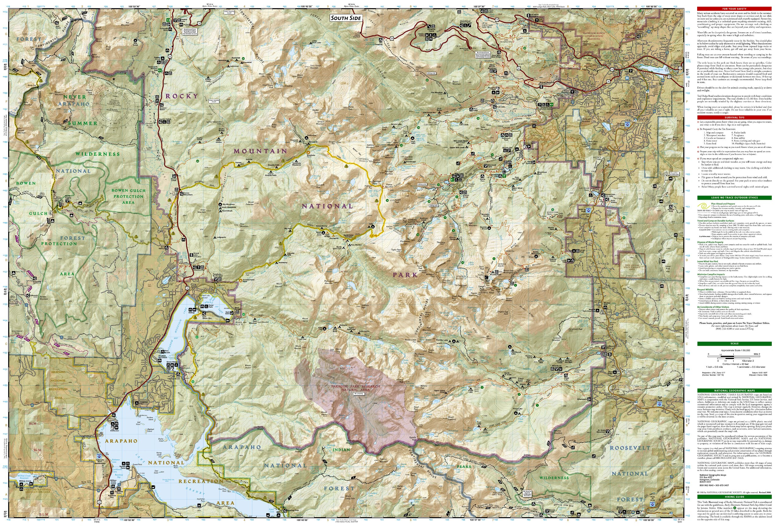 Topographic Map Rocky Mountains.Rocky Mountain National Park Gps Colorado Ng Np 200 National