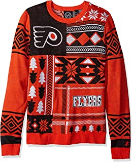 e320d3ce3 Philadelphia Flyers Patches Ugly Crew Neck Sweater Double Extra Large