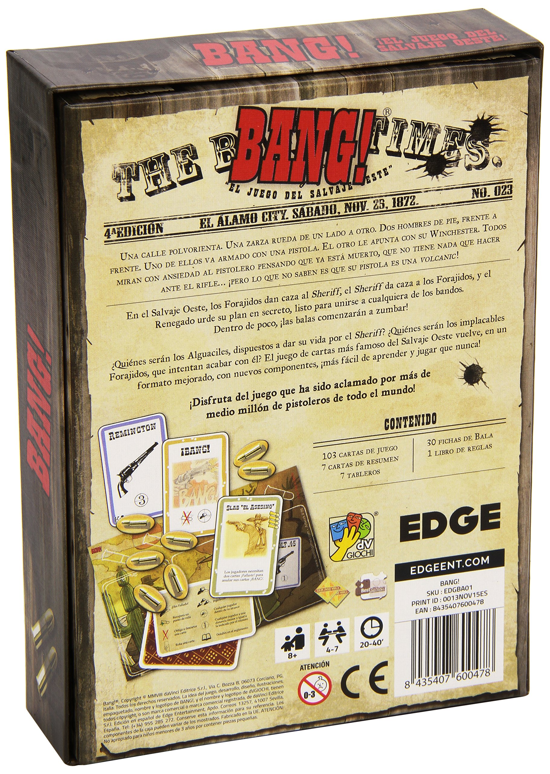 Comprar Edge Entertainment- Bang! - JCNC, (BA01)