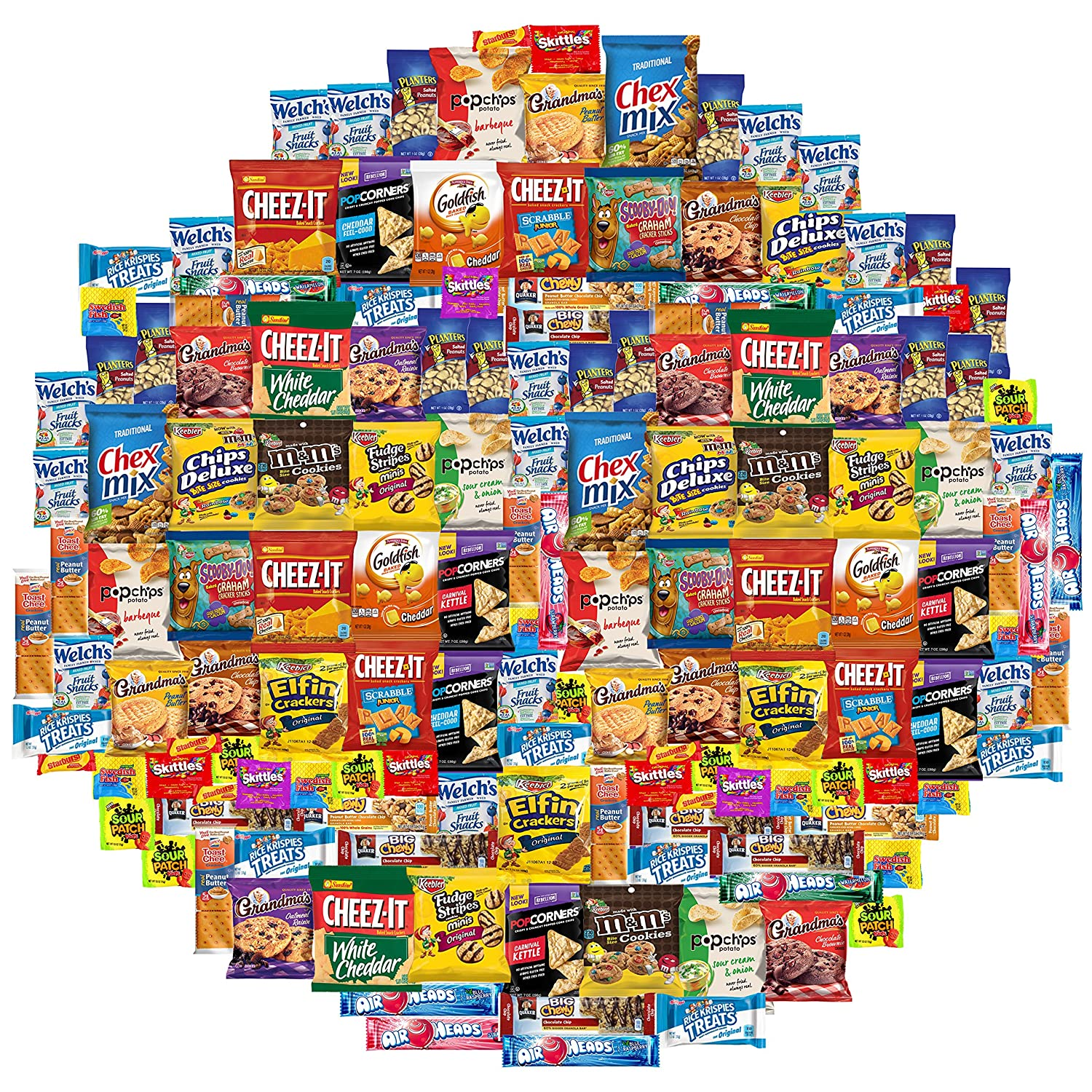 Cookies, Chips & Candies Care Package Variety Pack Bundle Sampler (150 Count)