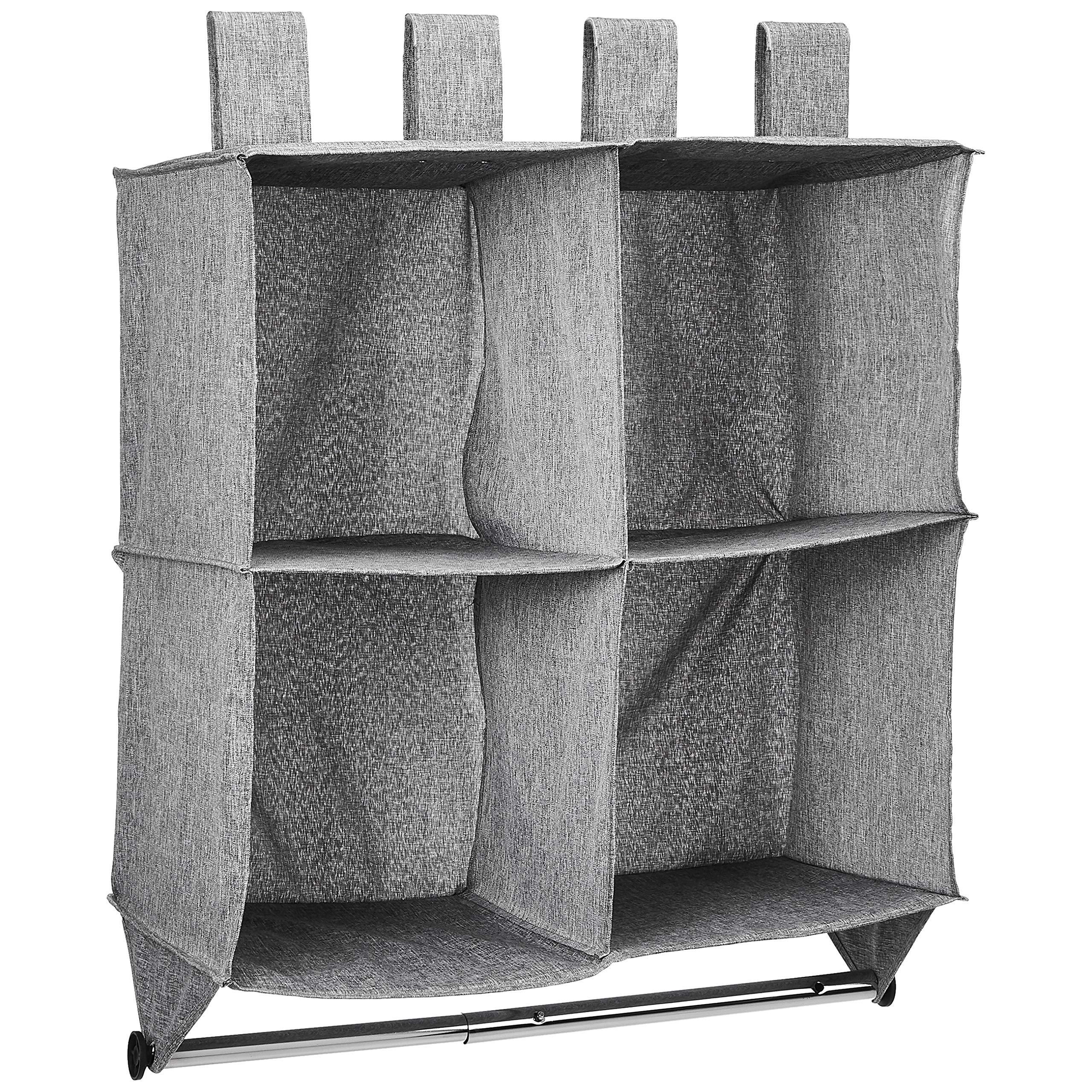 Amazon Basics Hanging 4-Shelf Closet Cubby with Hanging Rod