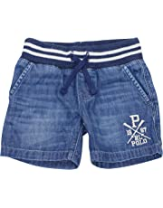 POLO RALPH LAUREN Toddler Boys Denim Pull-On Drawstring Waist Shorts