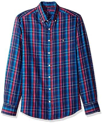 3dc8435e GANT Men's Classic Color Cashmere Check Shirt at Amazon Men's Clothing store :