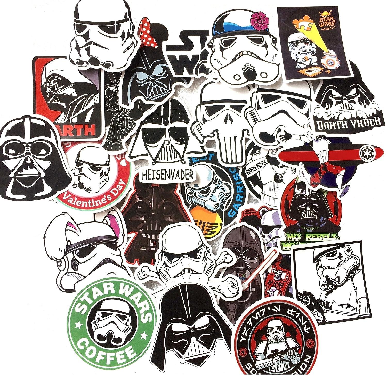 star wars. 50 ADESIVI portatile, bagagli, moto, bicicletta, auto, skateboard