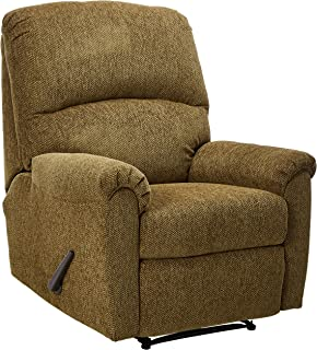 ashley furniture signature design pranit recliner manual reclining chair walnut brown