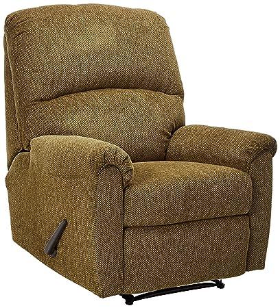 Ashley Furniture Signature Design   Pranit Recliner   Manual Reclining  Chair   Walnut Brown