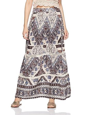 Only onlKAITLYN Maxi Skirt Falda, Multicolor (White Swan), 38 para ...