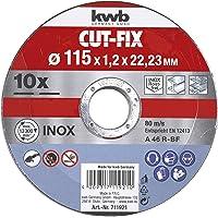 KWB 49711921 Juego de 10 discos cut fix
