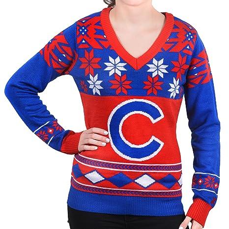 230c5aac80e Amazon.com   FOCO MLB Women s V-Neck Sweater   Sports   Outdoors