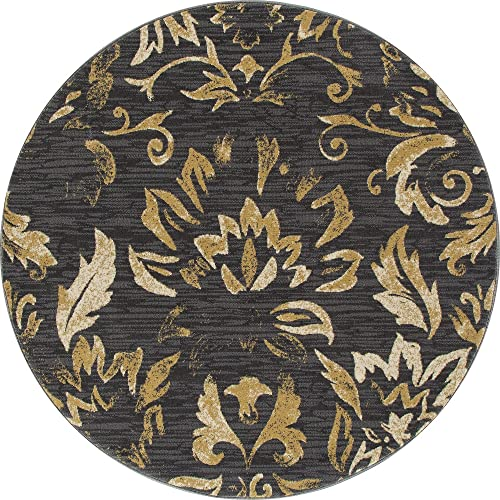 Art Carpet Bastille Collection Faded Beauty Woven Round Area Rug - a good cheap living room rug