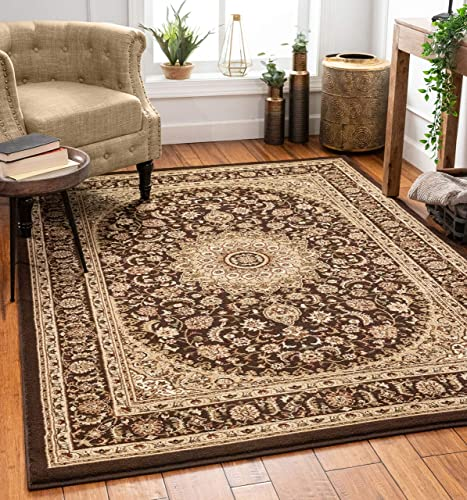 Well Woven Timeless Aviva Traditional French Country Oriental Brown Area Rug 7'10″ x 10'6″