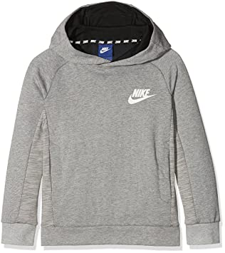 Nike B NSW PO AV15 Sudadera, niños, Gris / (dk Grey Heather/Black/White), XS: Amazon.es: Deportes y aire libre