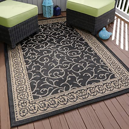Amazon.com: Lavish Home Ornate Vine Indoor/Outdoor Area Rug, 5\' x 7 ...