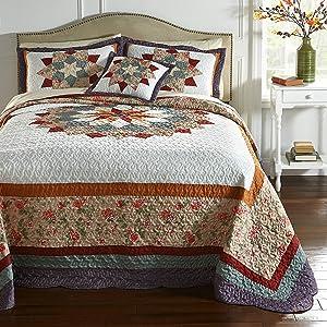BrylaneHome Virginia Bedspread - King, Multi