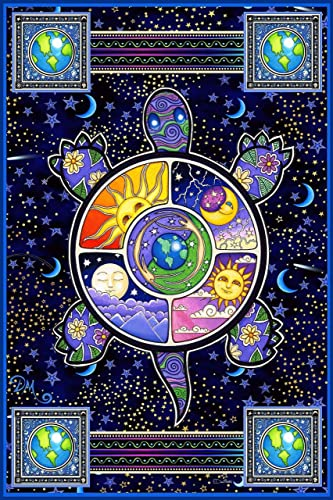 Turtle Celestial Earth Vertical Tapestry by Dan Morris