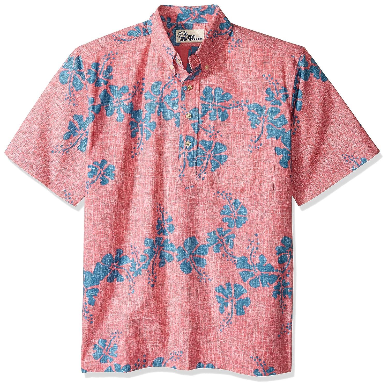8177b3b8 Reyn Spooner Men's 50th State Flower Spooner Kloth Classic Fit Pullover  Shirt, Pink, XXXL at Amazon Men's Clothing store: