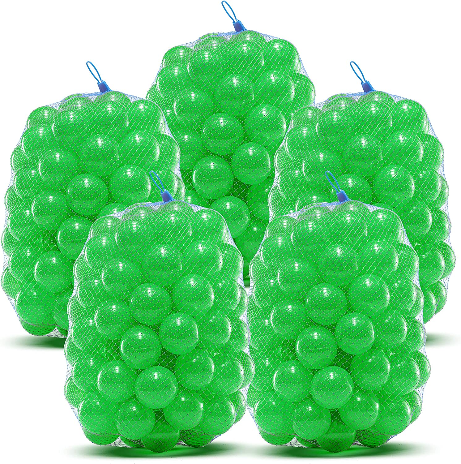 Ball Pit Balls - Phthalate and BPA Free -Crush Resistant Plastic Pit Balls - Kiddy Trampoline Balls For Ball Pit and Bounce House Balls. For ball pits for toddlers, bathtime, or, swimming pool - Green