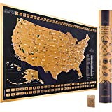Scratch Off Map of the United States National Parks - 24x17 Scratch Off USA Map Poster with National Parks, Landmarks, Highes