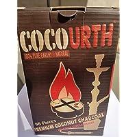 Hookah Natural Coconut Charcoal 96 Pieces Quarter Circle Coco Urth 1 Kilo Shisha Coal