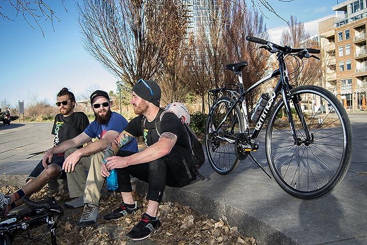 Tommaso La Forma Lightweight Aluminum Hybrid Bike -Black/White - XSmall