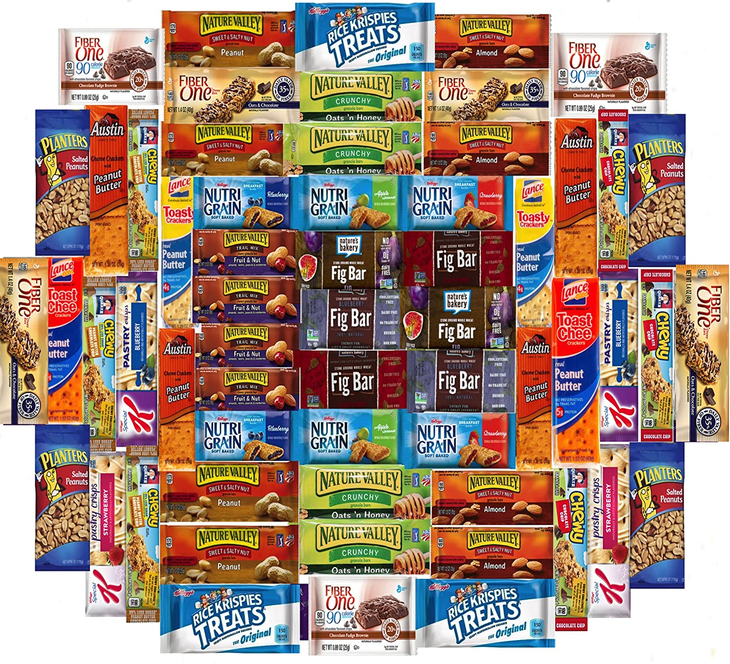 Ultimate Healthy Office Bars (60 count), Snacks & Nuts Bulk Variety Pack