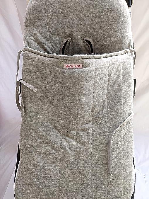MOON-BEBE Saco Universal para sillas de paseo ALGODÓN (GRIS): Amazon.es: Bebé
