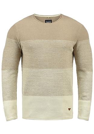 97eb35e1005a Blend Benno Herren Strickpullover Feinstrick Pullover Mit Rundhalsausschnitt  Aus 100% Baumwolle  Amazon.de  Bekleidung