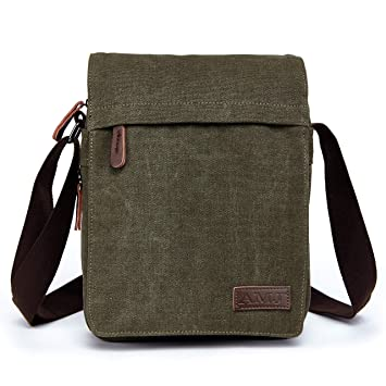 46e312657e3 Image Unavailable. Image not available for. Color  Unisex Multifunctional  Canvas Messenger Bag ...
