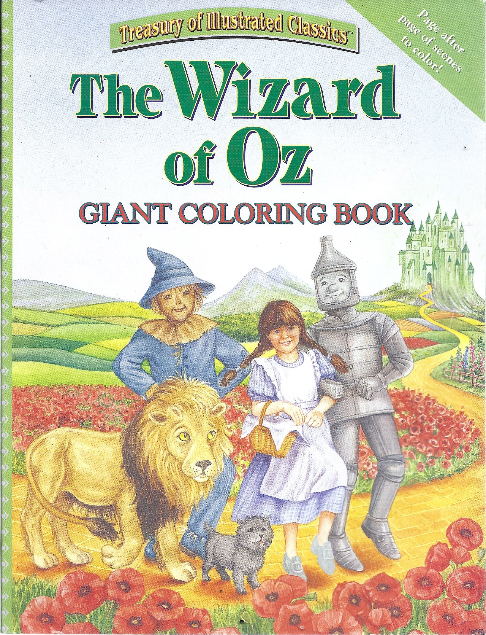 the wizard of oz giant coloring book treasury of illustrated classics unknown 9780766613300 amazoncom books - Giant Coloring Book