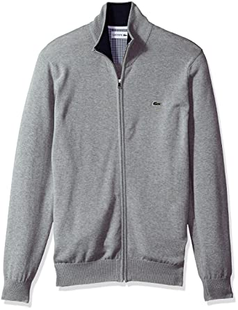 6814dc147e Lacoste Men's Full Zip Jersey Sweater