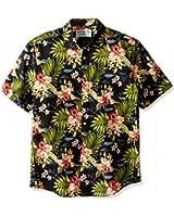 Margaritaville Men's Short Sleeve Lily Floral Print Shirt