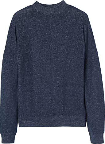 find Grey Womens Sweatshirt Soft Oversized Long Sleeve XS US 0-2 Grey Marl