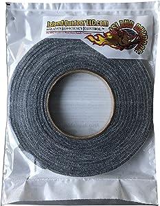 LavaLock® Self Stick BBQ gasket Grey High Temp Smoker Gasket Charcoal Grill Seal - Factory Shorts (10 ft x 1/8 x 1/2w Self Stick, Grey High Temp)