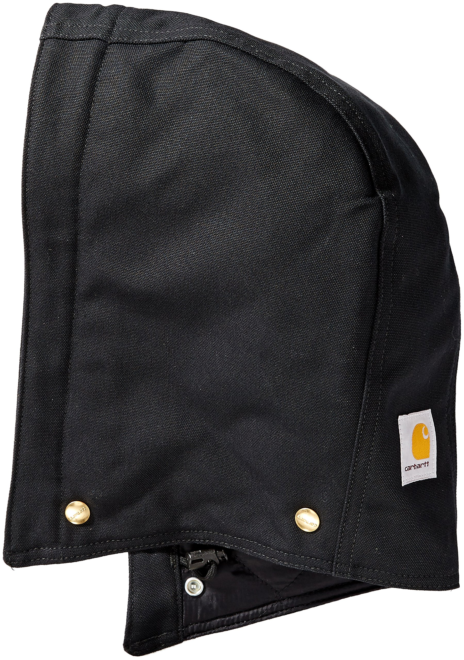 Carhartt Men's Quilt-Lined Duck Hood, Black, SM-XL