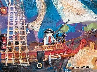 Playmobil Clicks Pirates IV Peinture Originale Faite À La Main