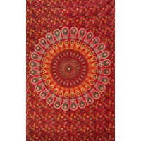 Popular Twin Hippie Mandala Bohemian Psychedelic Intricate Floral Design Indian Bedspread Magical Thinking Tapestry…