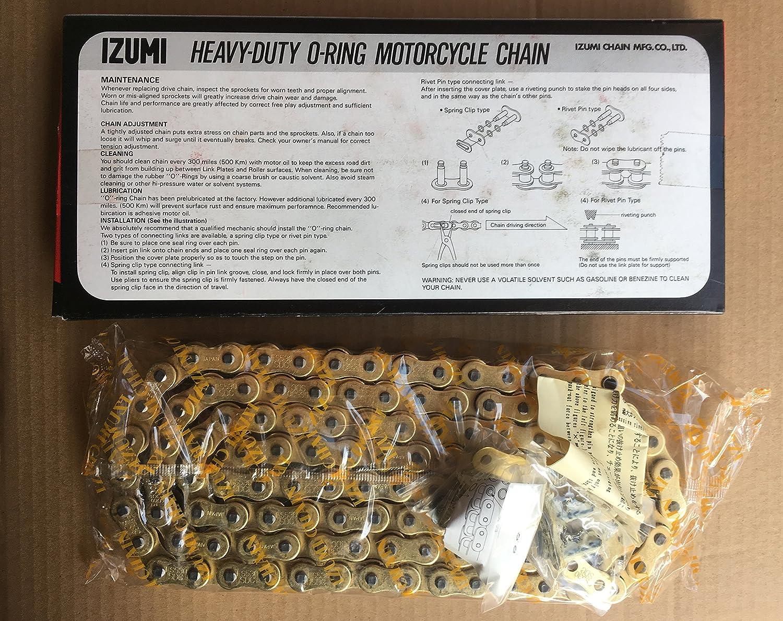 IZUMI CHAIN ES 530 SDC 110L Oリング G&G ゴールド カシメジョイント1個 クリップジョイント1個 付   B07D2Y81LT