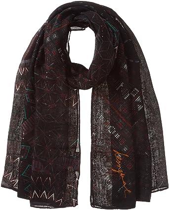 5891c90a1b3e8 Desigual Foulard Rectangle Noa, Bufanda para Mujer, (Negro 2000), única  (Talla
