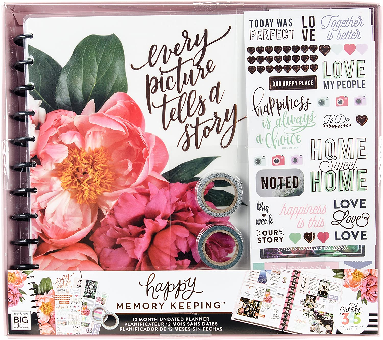 Me and My Big Ideas Kit Happy Planner XL Floral - Happy Memory Keeping