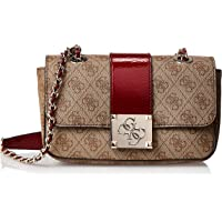 GUESS Women's Logo City Sml Cvrtble Xbdy Flp, Brown Multi - SP747618