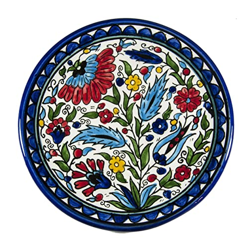 Decorative plate armenian pottery ceramic hand painted israel old jerusalem gift  sc 1 st  Amazon.com & Amazon.com: Decorative plate armenian pottery ceramic hand painted ...