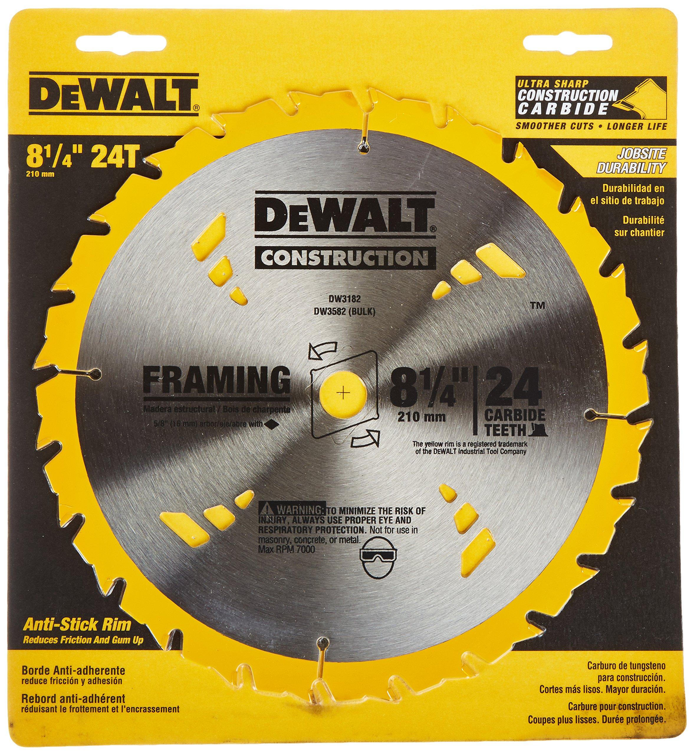 Disco Sierra Dewalt 8 1 / 4i Atb Framing Con 5 / 8i Eje 24