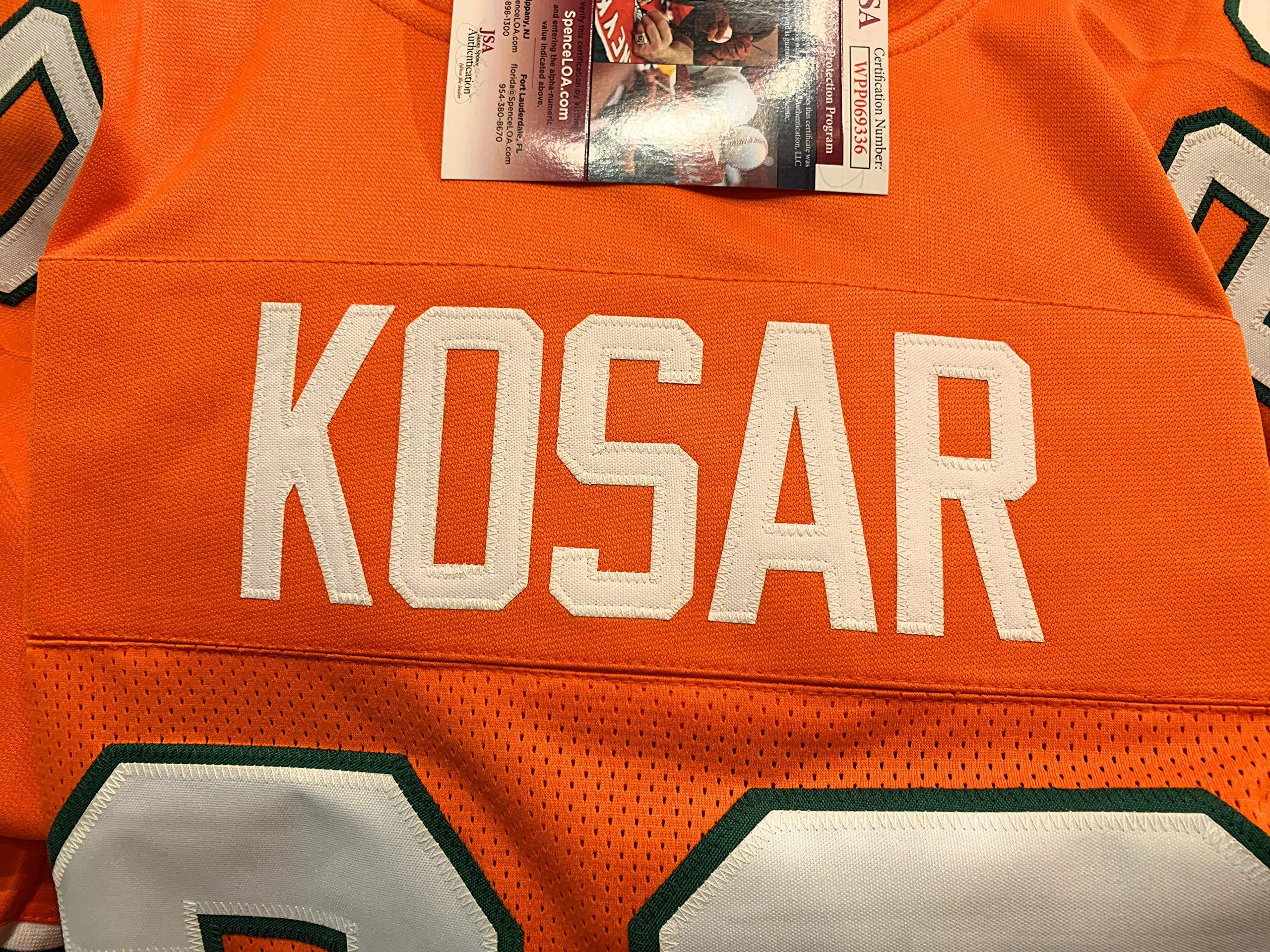 Bernie Kosar Miami Hurricanes Signed Autograph Orange Custom Jersey JSA Witnessed Certified