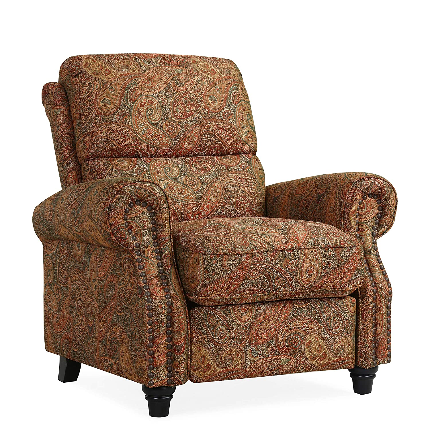 Incredible Domesis Cortez Cloth Push Back Recliner Chair Paisley Machost Co Dining Chair Design Ideas Machostcouk