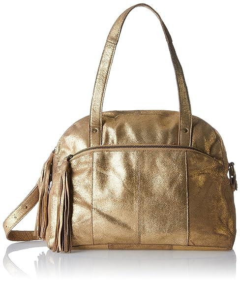 PIECES - Pcmylisia Leather Bag, Carteras de mano con asa Mujer, Gold (Gold