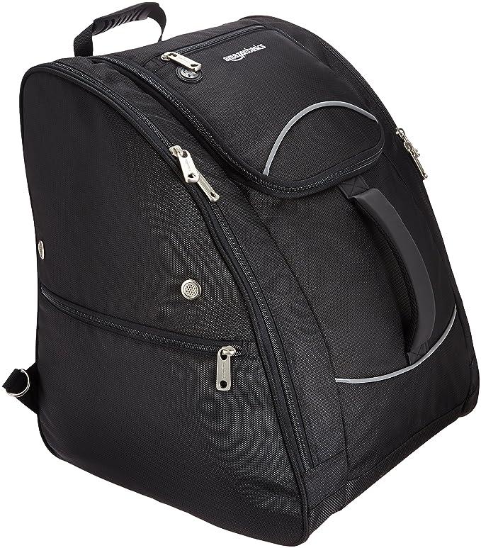 AmazonBasics Waterproof Ski Boot Bag - 14 x 18 x 14.5 Inches, Black