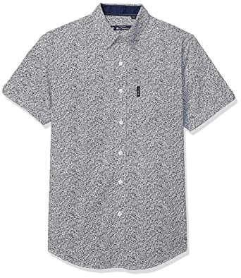 4608b2d289f9e4 Amazon.com: Ben Sherman Men's Ss Flrl PRT Shirt: Clothing