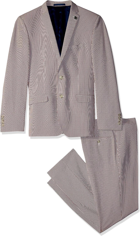 Nick Graham Men's Slim Fit Stretch Finished Bottom Suit